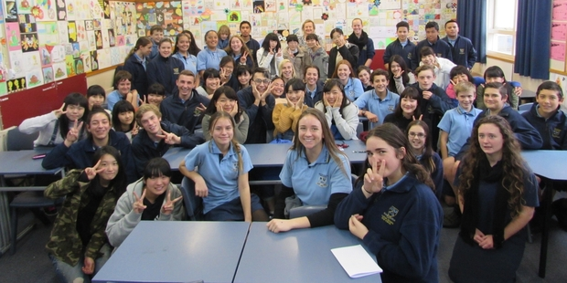 Sagami Women's University High School visited Western Heights High School during their trip to Rotorua from Japan.