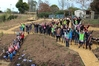 Argyll East School students and community celebrate the completion of their Treemendous School Makeover.