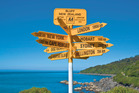 Bluff's iconic signpost. Photo / Supplied