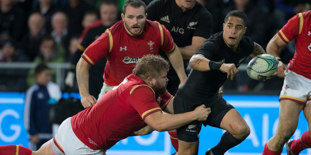 Loading All Blacks halfback Aaron Smith in action against Wales. Photo / Brett Phibbs