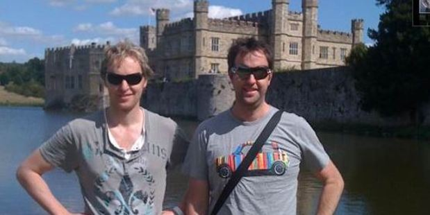 Online Republic founders Mike Ballantyne (L) and Paul Ballantyne at Leeds Castle in 2009.