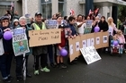 Sensible Sentencing is planning nationwide rallies and marches to be held at every Court House to coincide with the sentencing of Mokos killers at Whanganui Court house  27 June 2016 Wanganui Chronicle Photograph by Stuart Munro