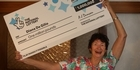 Watch: Watch: Lottery winner Diana De Gilio returns home