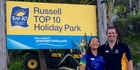 Russell Top 10 Holiday Park co-managers Naomi Facey and Neil Bolton hope to continue raising the bar for customer service.