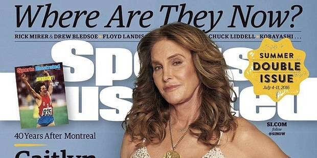 The cover photo also marks the first time Jenner has publicly worn the medal since she stood on the podium in Montreal 40 years ago. Photo / Sports Illustrated