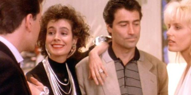 Sean Young (second from the left) as Kate Gekko in Wall Street.