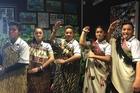 Luke Dorset (Ngati Whakaue left), Te Paea Waetford-Heketa (Ngati Whakaue, Ngati Rangiwewehi), Tyreece Herewini (Te Whanau a Apanui) Adanyah Gage (Te Arawa, Ngati Porou), and Bradley Raharuhi (Ngati Whakaue, Ngati Pikiao).