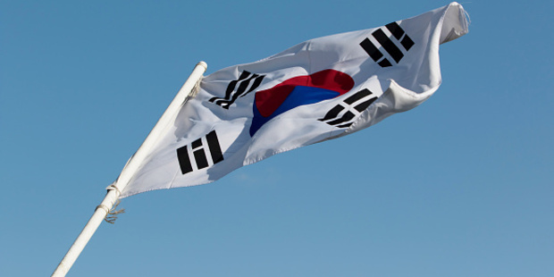 The South Korean flag. Photo / Getty Images