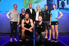Athletes showcase the new New Zealand Olympic uniform at the Prime Minister's Olympic Gala Dinner at Sky City. Photo / Getty Images