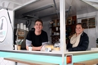 Blair Tickner and partner Holly Walters sell coffee from Brown Dog Espresso. Photo / Paul Taylor