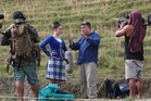 ON THE ROAD: Te Araroa Trail's host Pio Terei filming at the Turakina Highland Games. PHOTO/BEVAN CONLEY