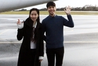 Two of the early-arrival contestants in the Kerikeri International Piano Competition, Fanya Lin (left), from Taiwan, although based in the United States, and Chanyeong Yang from Seoul, South Korea. Photo / Sandy Myhrex