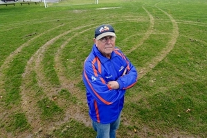 "Tikipunga AFC premier coach Bill Gibson said vandals who damaged his club's main field had ""knackered"" things for the club."