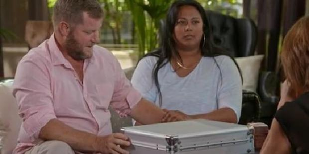 Mem and Troy Hockley kept half of their 100,000, being left with only $75,000. Photo / Channel 9