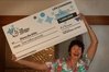 "Diana De Gilio says Customs ""couldn't get over"" her novelty lottery cheque. Photo / NZME"