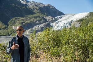 US President Barack Obama visited the Exit Glacier in Seward, Alaska last year. Photo / AP
