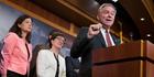 Senator Tim Kaine on Capitol Hill in Washington. Photo / AP