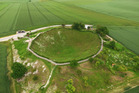 The World War I Lochnager Crater in La Boisselle, France. The crater was created by a mine which was blown under a field during the opening day of the Battle of the Somme. Photo / AP