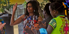 US first lady Michelle Obama at a project 70km from Monrovia in Kakata, Liberia. Photo / AP