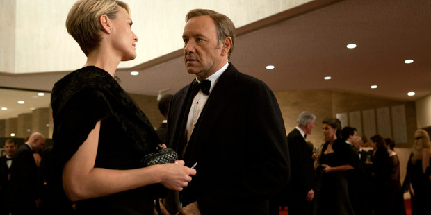 The modern Lord and Lady Macbeth: Kevin Spacey and Robin Wright as husband and wife schemers Francis and Claire Underwood in the television series House of Cards. Photo / Netflix