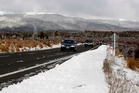 There is a snowfall warning for the Desert Rd today.  Photo/File