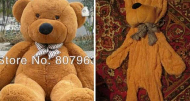 This plump bear looked a little worse for wear by the time it reached its buyer.