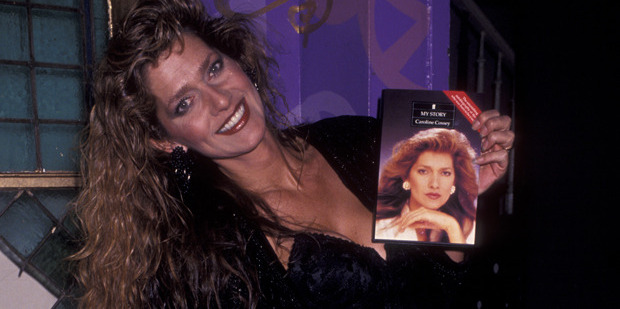 Caroline Tula Cossey at her book launch in 1992. Photo / Getty
