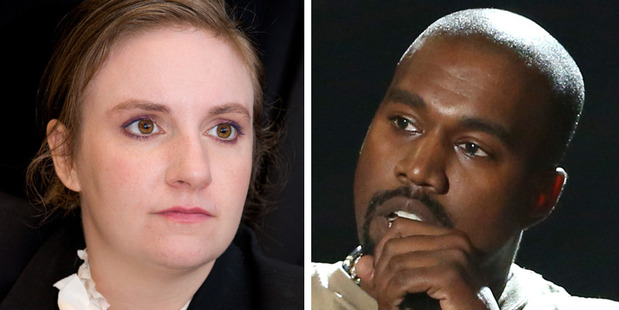 """Lena Dunham takes issue with the """"unconscious, waxy bodies of famous women"""" portrayed in Kanye West's video. Photo / Getty Images, AFP"""