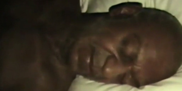 The likeness of Bill Cosby in Kanye West's music video, Famous.