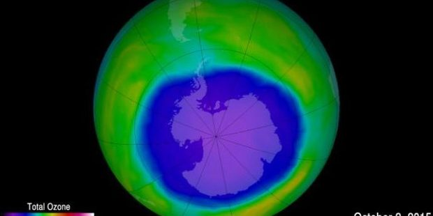The hole in the ozone layer has shrunk by more than 1.7 million square miles since 2000. Photo / NASA