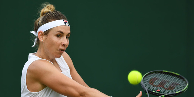 New Zealand's Marina Erakovic has notched up one of her career best wins to reach the third round at Wimbledon. Photo / Getty Images.