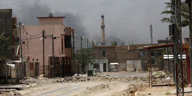 Iraqi forces took Fallujah from the Islamic State group. Photo / AP