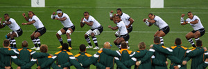 The Fiji team perform the Cibi prior to kickoff during the IRB 2011 Rugby World Cup. Photo / Gettyimages