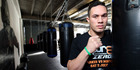Joseph Parker poses in his training gym. Photo / Getty