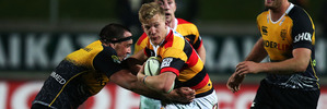 Damian McKenzie of Waikato makes a break during the round three ITM Cup match between Waikato and Taranaki. Photo / Getty