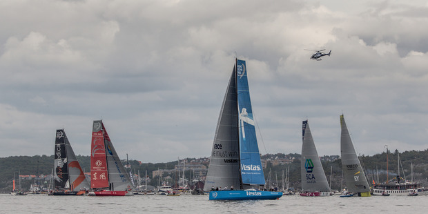 The fleet during the final In-Port Race in Gothenburg, Sweden. Photo / Getty Images