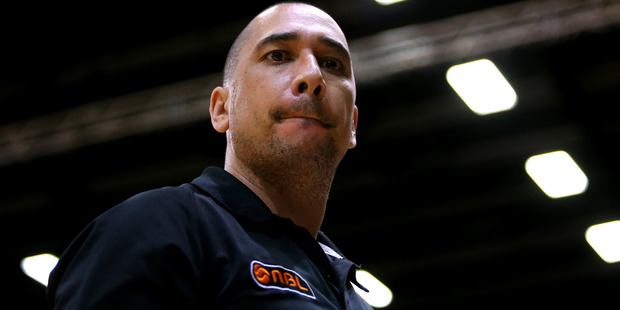 Paul Henare looks on during the NBL pre-season match. Photo / Getty Images