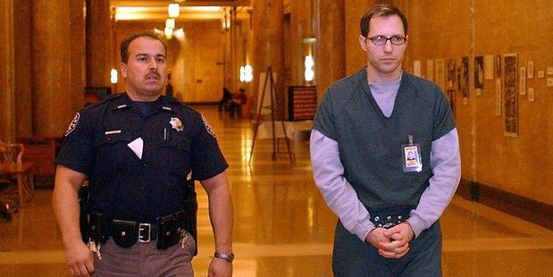 In this file photo cameraman Kurt Sonnenfeld appears in court for his preliminary hearing at the Denver City and County Building, charged with the murder of his wife Nancy. Photo / Getty