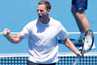 Michael Venus celebrates a doubles win with Mate Pavic at the ASB Classic. Photo / Getty Images