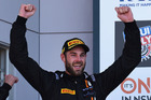 Shane van Gisbergen celebrates victory at the Bathurst 12 Hour Race. Photo / Getty Images