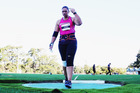 Valerie Adams competes in the Women's Shot Put final during the Auckland Track Challenge. Photo/ Getty