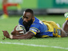Semi Radradra of the Eels scores a try during the round three NRL match against the Canterbury Bulldogs. Photo / Getty