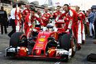 Sebastian Vettel arrives on the grid ahead of the Bahrain Formula One Grand Prix. Photo / Getty Images