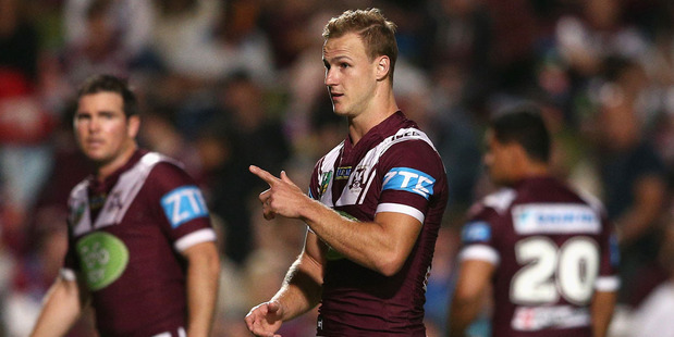 Daly Cherry-Evans of the Sea Eagles warms up prior to the round nine NRL match against the North Queensland Cowboys at Brookvale Oval. Photo / Getty