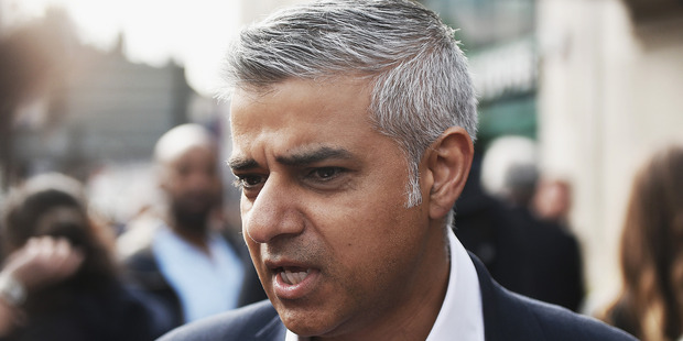 London mayor Sadiq Khan placed the city's police force on alert following the incidents. Photo / Gettyimages