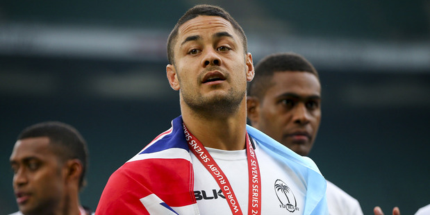 Jarryd Hayne of Fiji looks on during day two of the HSBC London Sevens at Twickenham Stadium. Photo / Getty