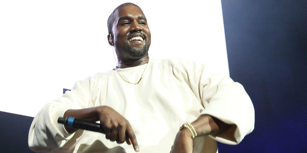 Kanye may not be smiling so much once all the depicted celebs start reacting. Photo / Getty Images.
