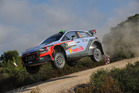 Hayden Paddon during the Shakedown of the WRC Italy. Photo / Getty Images