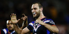 Simon Mannering of the Warriors celebrates after beating the Sydney Roosters. Photo / Getty Images
