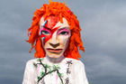 A David Bowie mannequin is seen at the Glastonbury Festival. Photo / Getty Images